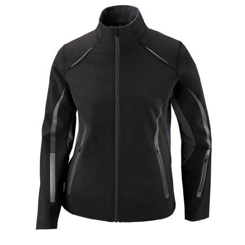 (Ash City Ladies Pursuit Soft Shell Jacket (XX-Large, Black/Carbon))