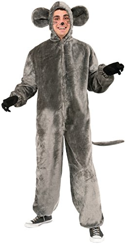 Forum Novelties Mouse Mascot Costume, Gray, Standard