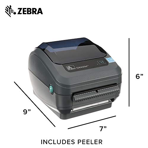 Zebra - GX420d Direct Thermal Desktop Printer for Labels, Receipts, Barcodes, Tags, and Wrist Bands - Print Width of 4 in - USB, Serial, and Ethernet Port Connectivity (Includes Peeler) by Zebra Technologies (Image #5)