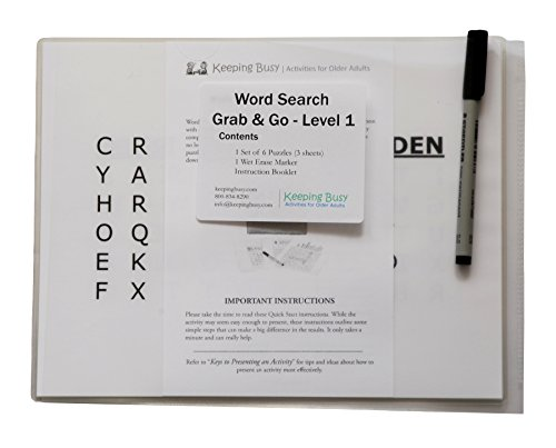 Amazon.com: Word Search Grab & Go - Level 1 (Easy) Puzzle for ...