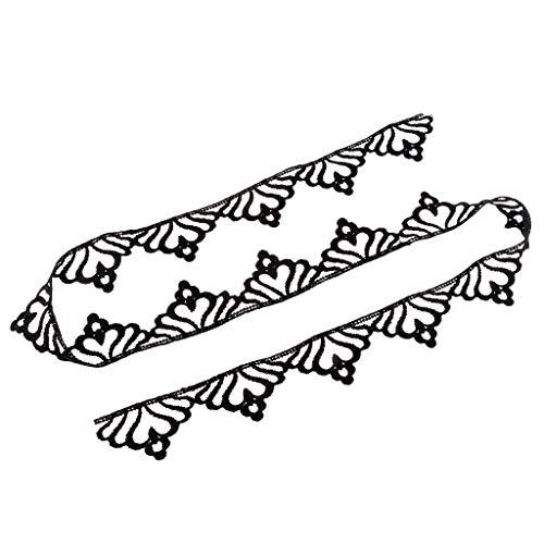 Bridal Lace Trim Ribbon Vintage Crown Wedding Embroidered Applique 1 Yard (Color - -