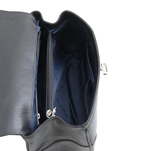 Tuscany Leather TL NeoClassic Bauletto piccolo in pelle Rosso Nero