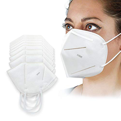 Face Mask Industrial Mask with 3D Premium and 4 Ply Breathable Certified Face Mask for Outdoor (20 PCS)