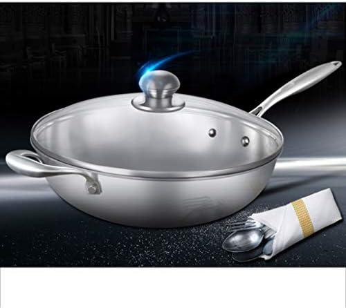 JU FU Pan, Pan Ménage, Poêle, antiadhésif en acier inoxydable, non couché Cuisinière à induction, Cuisinière à gaz, Universal Batterie de cuisine @@ (Size : 30x30x9cm)