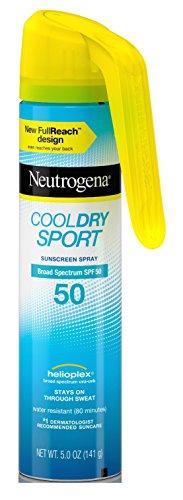 Neutrogena Cool Dry Spf#50 Sport Full Reach Spray 5 Ounce (148ml) (2 Pack)