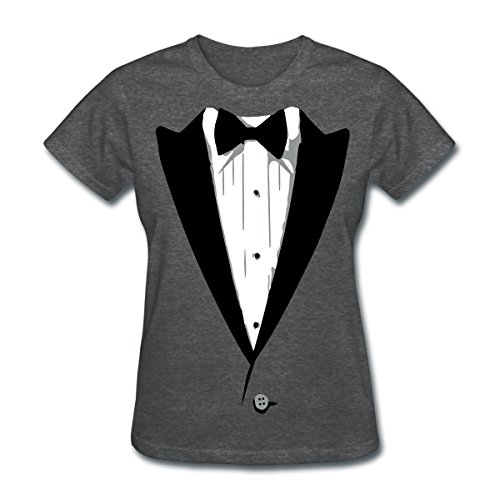 [Tuxedo Tux Funny Costume Women's T-Shirt by Spreadshirt, M, deep heather] (Womens Tuxedo Costumes Tshirt)