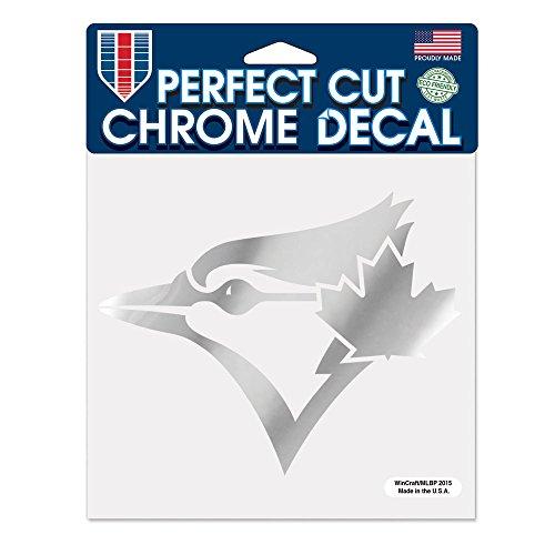 MLB Toronto Blue Jays Perfect Cut Chrome Decal, 6 x 6-Inch