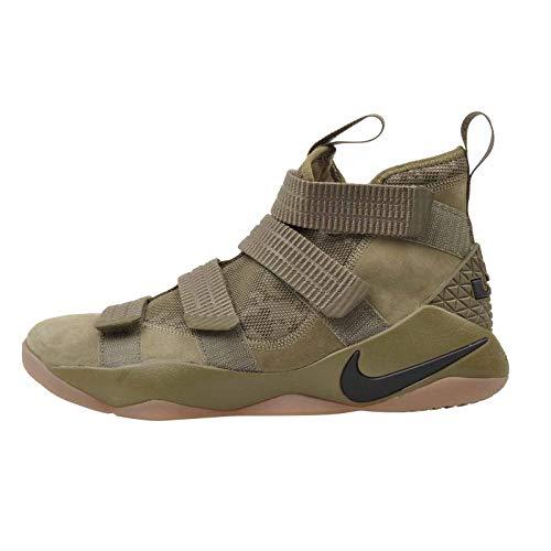 Nike Men's Lebron Soldier XI SFG, Medium Olive/Black=Black, 12 M US