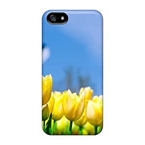 Iphone 5/5s Case Cover - Slim Fit Tpu Protector Shock Absorbent Case (different Flowers 1080p)