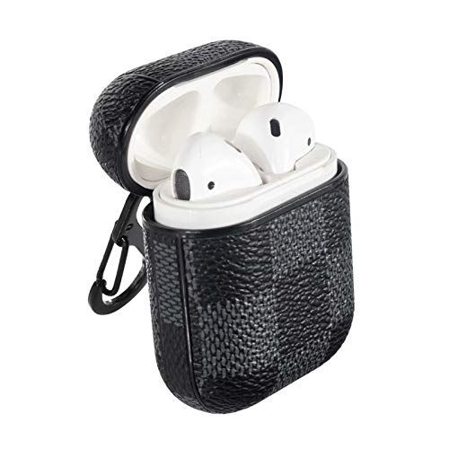 Airpods Case Airpods Accessories Shockproof Case Cover Portable Protective Leather Skin Cover Case For Apple Airpods 2 1 Front Led Not Visible Fashion Black