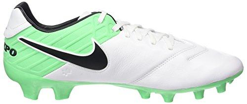 Nike Herren Tiempo Mystic V FG Fußballschuhe Weiß (White/Black-Electro Green)