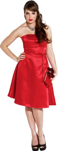 50s Strapless Satin Bridesmaid Bridesmaid Dress Homecoming
