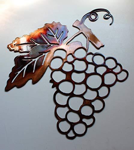 (Metal Wall Art Decor Grape Bushel)