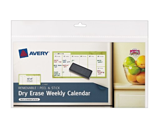 Avery Weekly Calendar Removable 24383