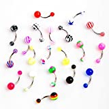 button 21secret 14 Gauge Body Piercing Jewelry Surgical Steel Dangle Belly Button Navel Rings