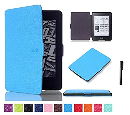 Brain Freezer J Lichi Design Faux Leather Magnetic Lock Auto Sleep/Wake up  Ultra Slim Flip Case Cover with Stylus Pen for Amazon Kindle Paperwhite