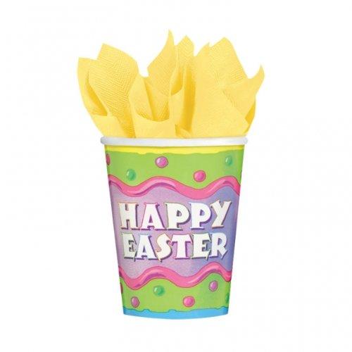 266ml Happy Easter Plastic Cups x 8