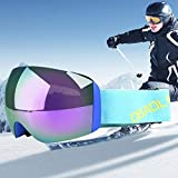 VAXT Maneuver H011 Unisex Double Layers Wide View Anti-Fog Windprooof UV Protection Spherical Goggles with Adjustable Strap (SKU : Og5219e)