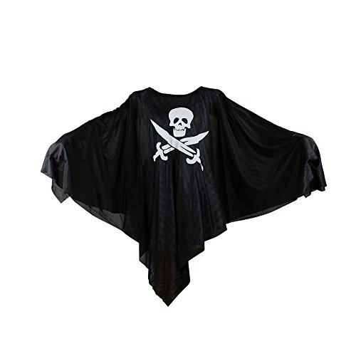 Absolutely Perfect Kids Black Evil Spirit Ghost Hooded Cloak Dress Scary Mask Child Cape Costume For Halloween Normal One Size (Irish Dancer Halloween Costume)