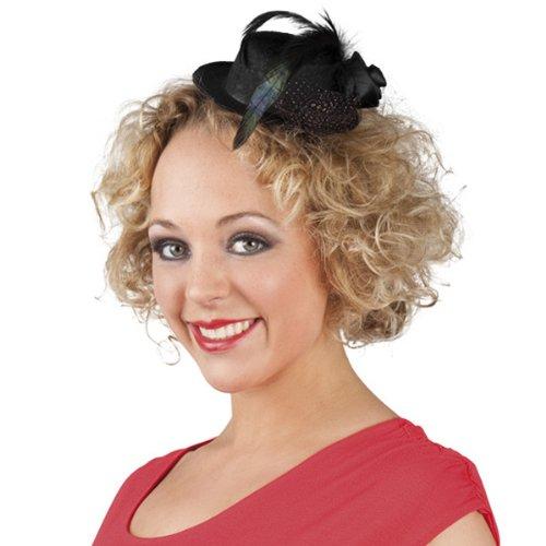 PARTY DISCOUNT NEU Hut Mini Nicolette, schwarz mit Haarclips