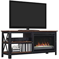 ClassicFlame 26MM8552-C296 Grainger TV Stand for TVs up to 60, Old World Brown (Electric Fireplace Insert sold separately)