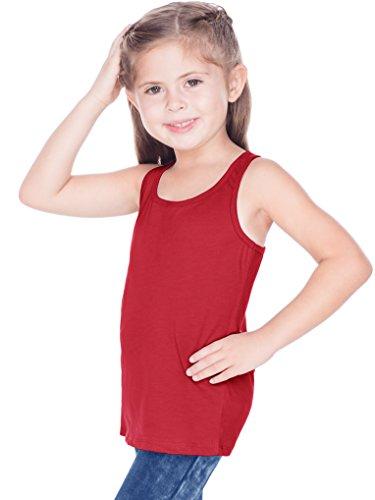 (Kavio! Little Girls 3-6X Sheer Jersey Racer Back Tank Red 6X)