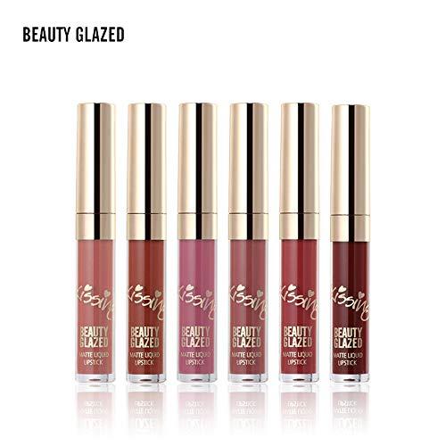 Beauty Glazed 6 PCS Matte Liquid Lipstick set Waterproof Long Lasting Birthday Edition Durable Liquid Lipgloss Beauty Cosmetics Set