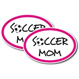 Soccer Mom Car Magnet Decals - 2 Pack 4 x 6 Oval Heavy Duty for Car Truck SUV Waterproof