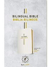 Bilingual Bible / Biblia bilingüe NLT/NTV (LeatherLike, Pearl)