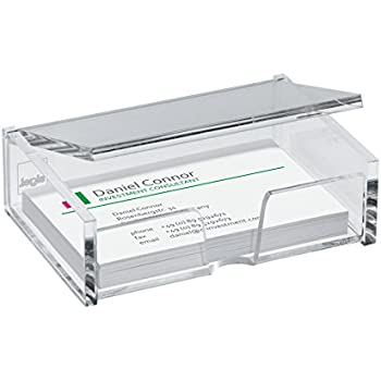 Amazon business card box sodialr10 x business card box sigel va112 business card box clear for up to 80 cards max 354 x 228 inches reheart Gallery