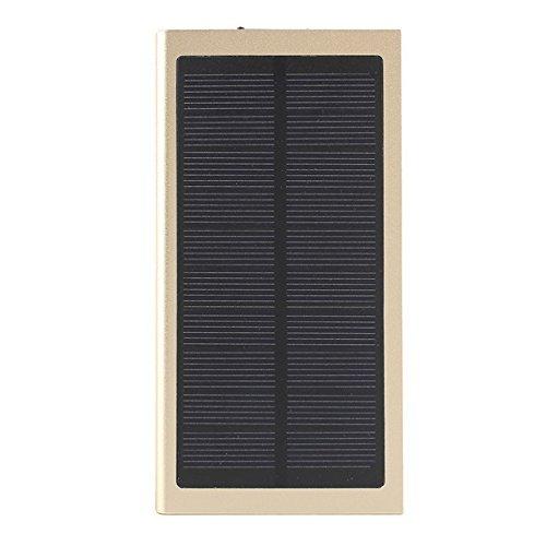 Solar Energy 8000mAh Battery Capacity Display DC5V/2A Dual USB Port Power Bank