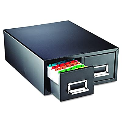 STEELMASTER 263F6916DBLA Drawer Card Cabinet Holds 3000 6 x 9 cards, 20 3/8 x 16 x 8 3/8