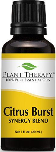 Plant Therapy Citrus Burst Synergy Essential Oil Blend. 100% Pure, Undiluted, Therapeutic Grade. Blend of: Grapefruit, Lemon, Lime, Litsea, Mandarin and Orange. 30 mL (1 Ounce).
