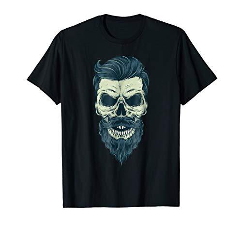 Day of the Dead Bearded Sugar Skull Halloween T-shirt Skull -