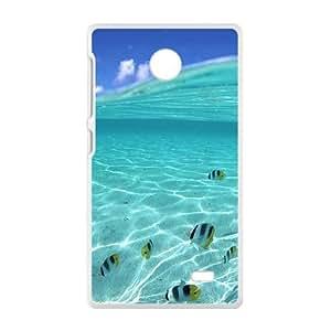 Blue Sea Fishes White Phone Case for Nokia Lumia X