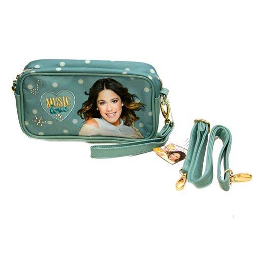 Freizeit-Tasche Schulterriemen Clutch Disney Violetta grün cm. 24x 13x 6–