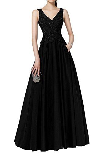 V Braut Ballkleider Partykleider Schwarz Spitze Brautmutterkleider Jaeger Lang Ausschnitt Abendkleider Marie La Gruen pOBZIq