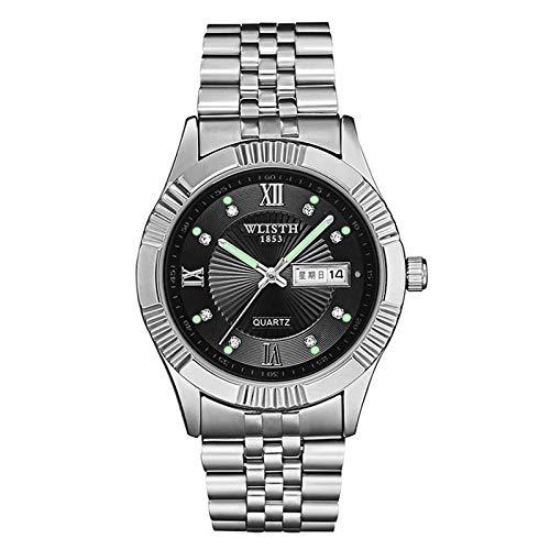 Mens Watch Ultra Thin Wrist Watches Fashion Waterproof Quartz Watch Stainless Steel Band/Leather Strap