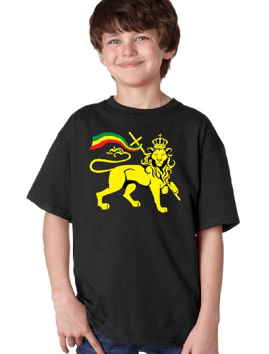 RASTA LION OF JUDAH Youth T-shirt / Rastafarian, Reggae, Marley, Jamaica Tee