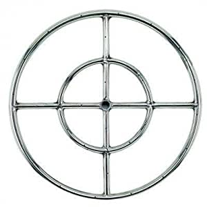 "Fire Pit Ring 12"" Stainless Steel 92000 BTU FCPFRS12"