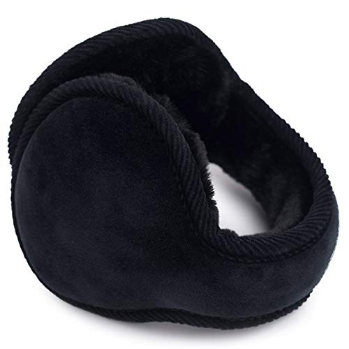 SamiTime Unisex Foldable Cashmere Winter Outdoor Earmuffs Ear warmer, Adjustable Wrap,Pure Color