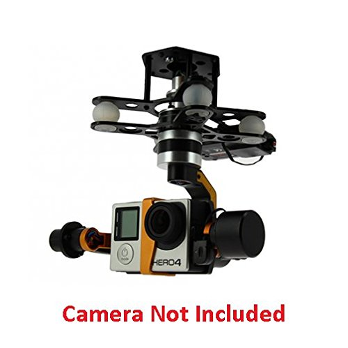 HobbyFlip G-3DH Brushless Gimbal 3 Axis 360 Degree 7.4~28v for GoPro 3/4 iLook iLook+ Compatible with RC Drone