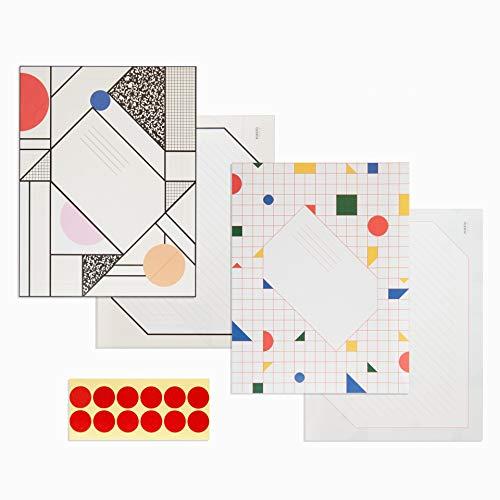 Modern Origami Letter & Message Set - 2 Designs, 6 Sheets Each ()