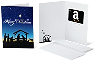 Amazon.com $75 Gift Card in a Greeting Card (Christmas Nativity Design) (B005DHN0UW) | Amazon price tracker / tracking, Amazon price history charts, Amazon price watches, Amazon price drop alerts