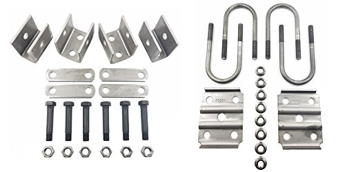 Rockwell American Single Axle Spring Hanger Kit & U-Bolt Kit for 3,500lb Trailer Axle