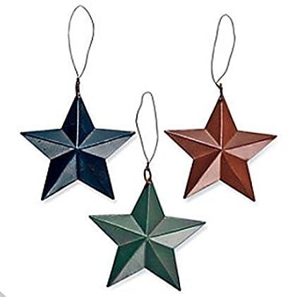 24 tin barn star ornaments christmas tree set lot primitive country rustic - Primitive Christmas Tree Ornaments
