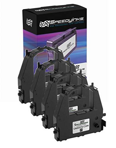 Speedy Inks Compatible Printer Ribbon Cartridge Replacement for Fujitsu CA02374-C104 (Black, 4-Pack)