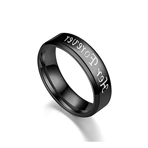 (Crookston Couple Love Heart Stainless Steel Comfort Wedding Band Engagement Promise Ring | Model RNG - 2810 | 11)