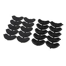 uxcell® Antislip Rubber Shoes Sole Heel Plate Taps Repair Tips 20pcs Black