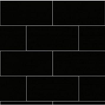 dumalock 3 carrelage Uni Noir Mat Revêtement mural de salle de bain ...